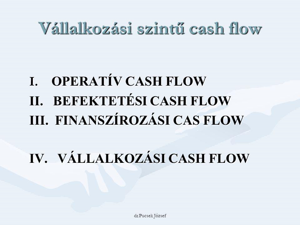 Vállalkozási szintű cash flow