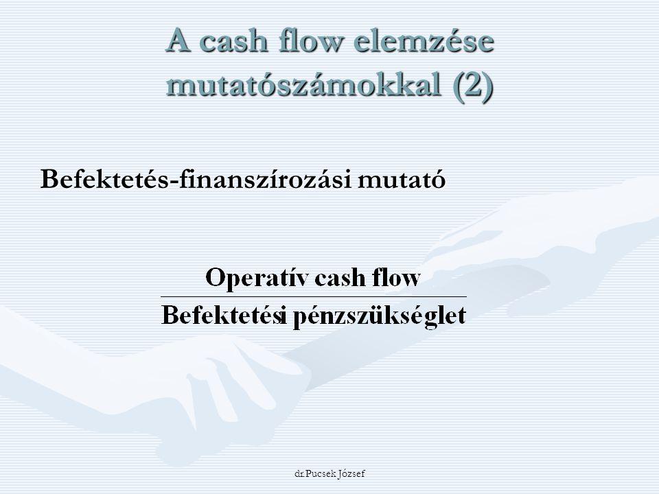 A cash flow elemzése mutatószámokkal (2)