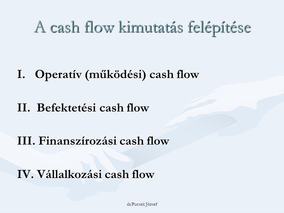 A cash flow kimutatás felépítése