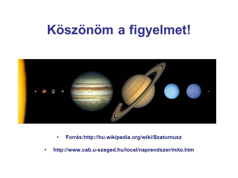 Köszönöm a figyelmet! Forrás:http://hu.wikipedia.org/wiki/Szaturnusz