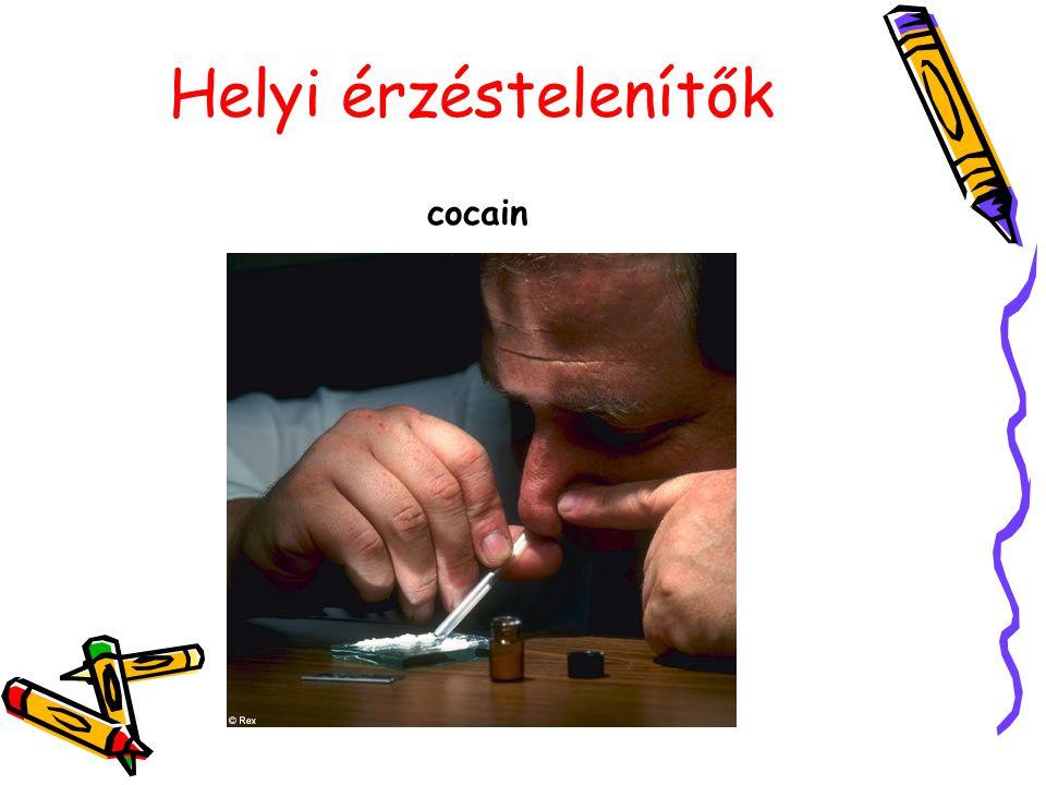Helyi érzéstelenítők cocain