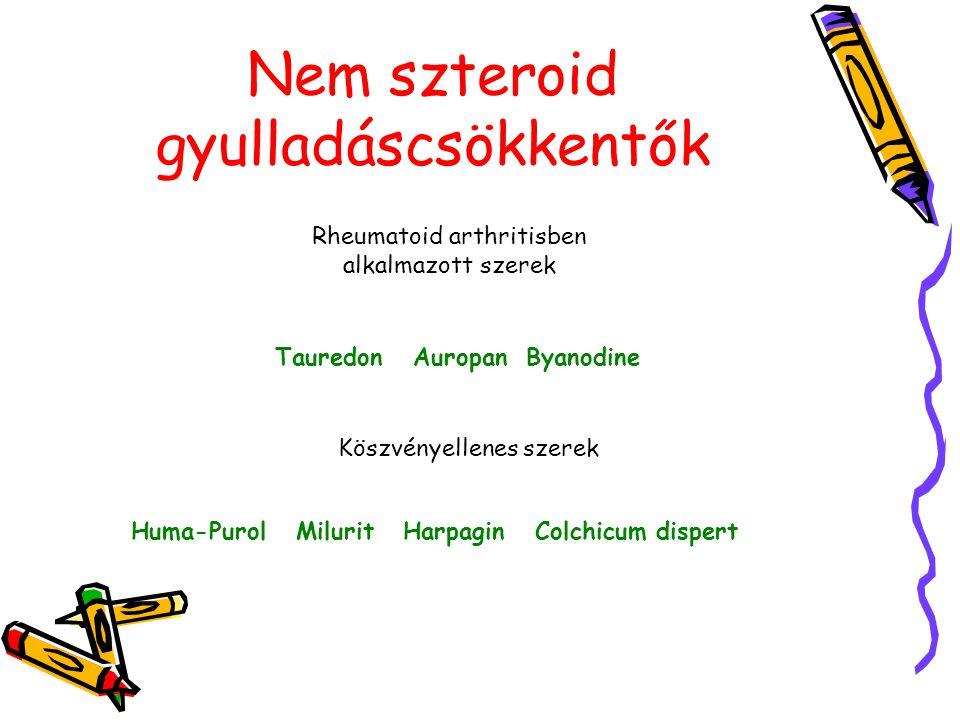 Nem szteroid gyulladáscsökkentők