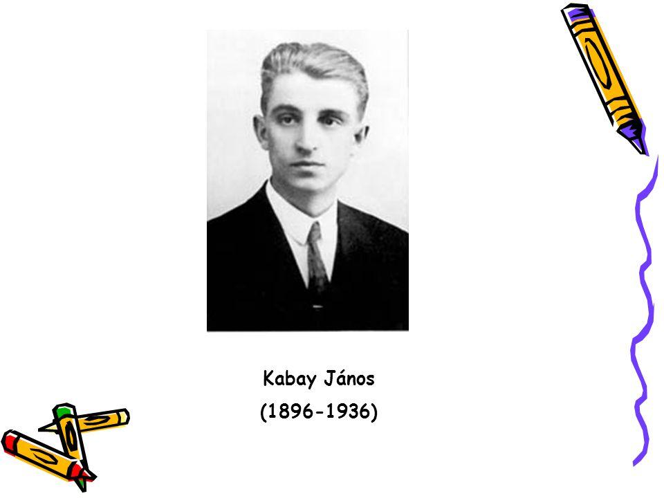 Kabay János (1896-1936)