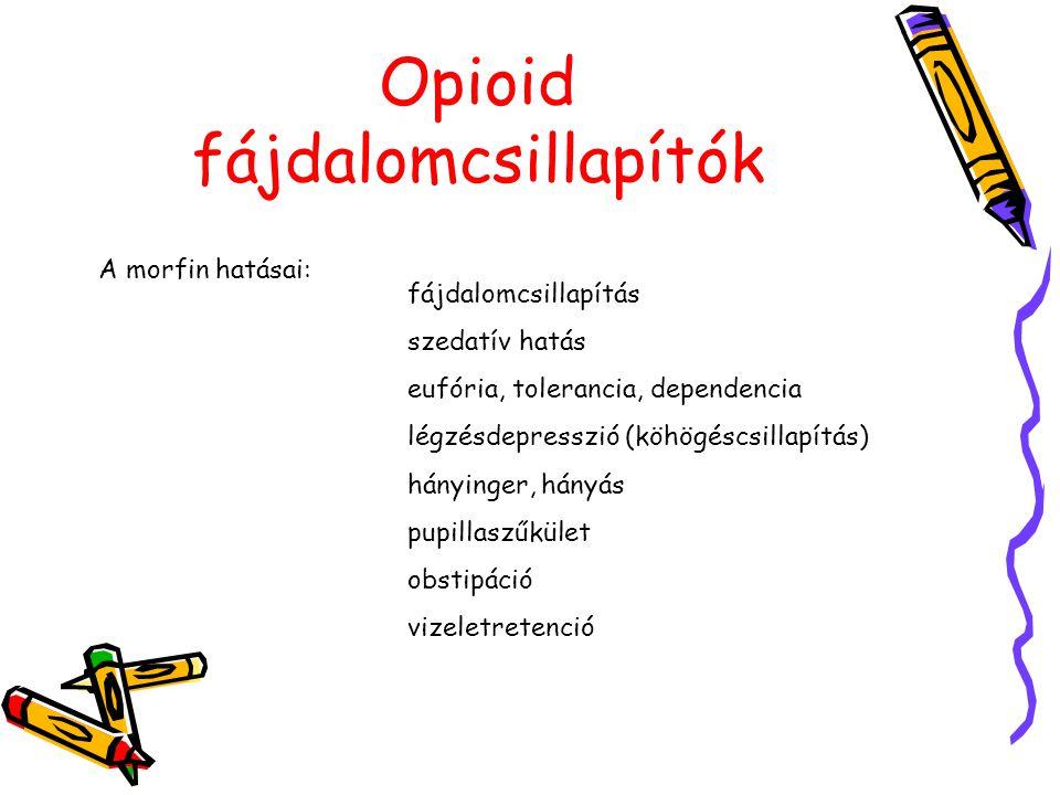 Opioid fájdalomcsillapítók