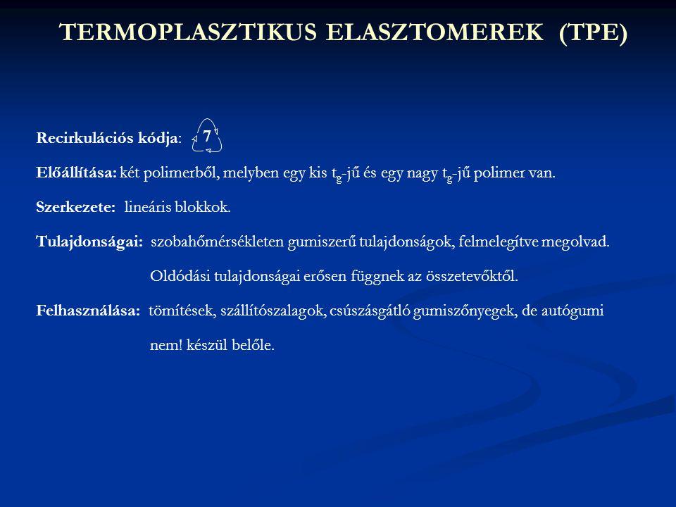 TERMOPLASZTIKUS ELASZTOMEREK (TPE)