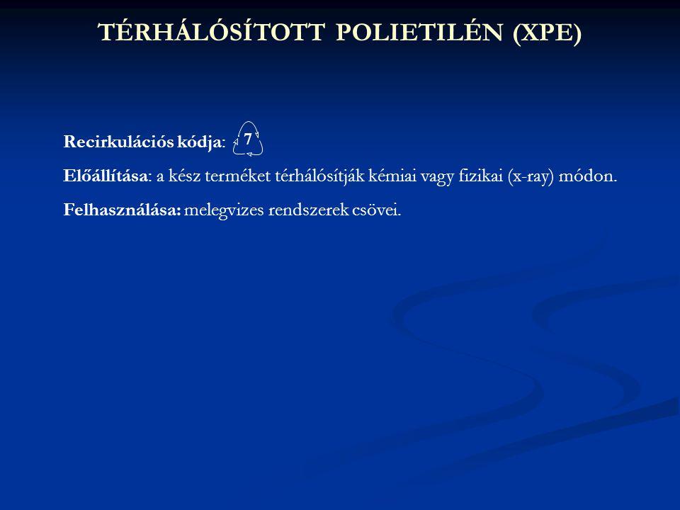 TÉRHÁLÓSÍTOTT POLIETILÉN (XPE)