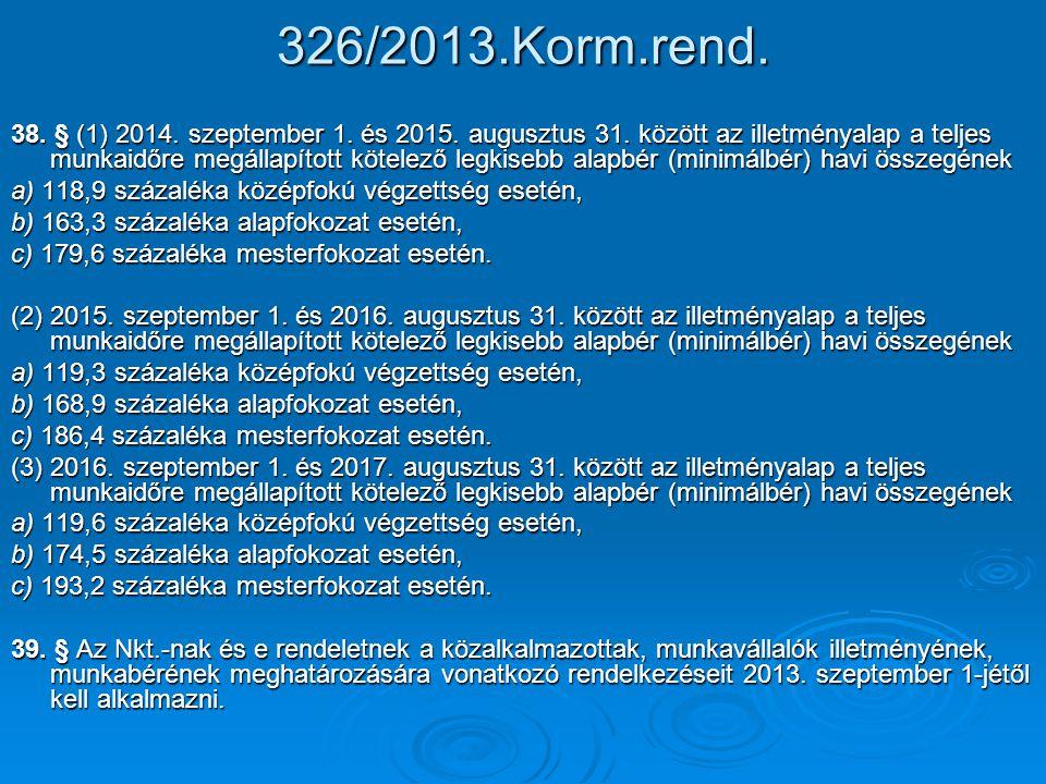 326/2013.Korm.rend.