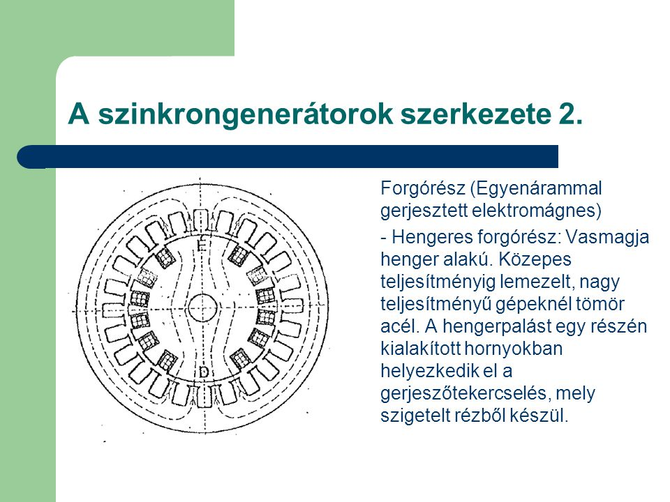 A szinkrongenerátorok szerkezete 2.