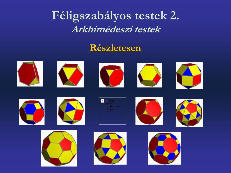 Féligszabályos testek 2. Arkhimédeszi testek