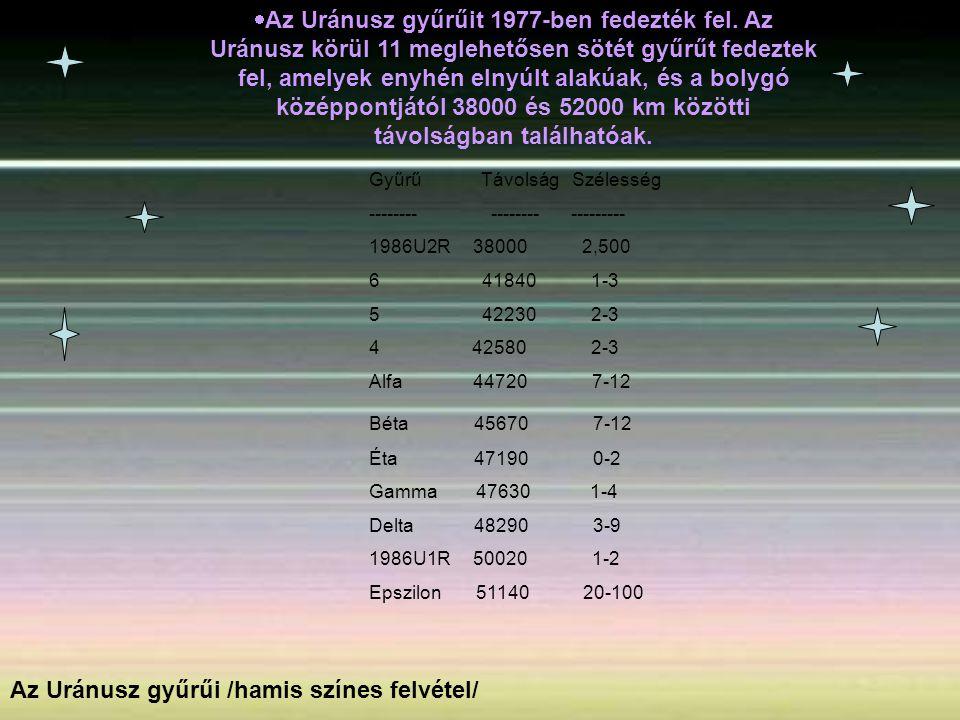 Az Uránusz gyűrűi /hamis színes felvétel/