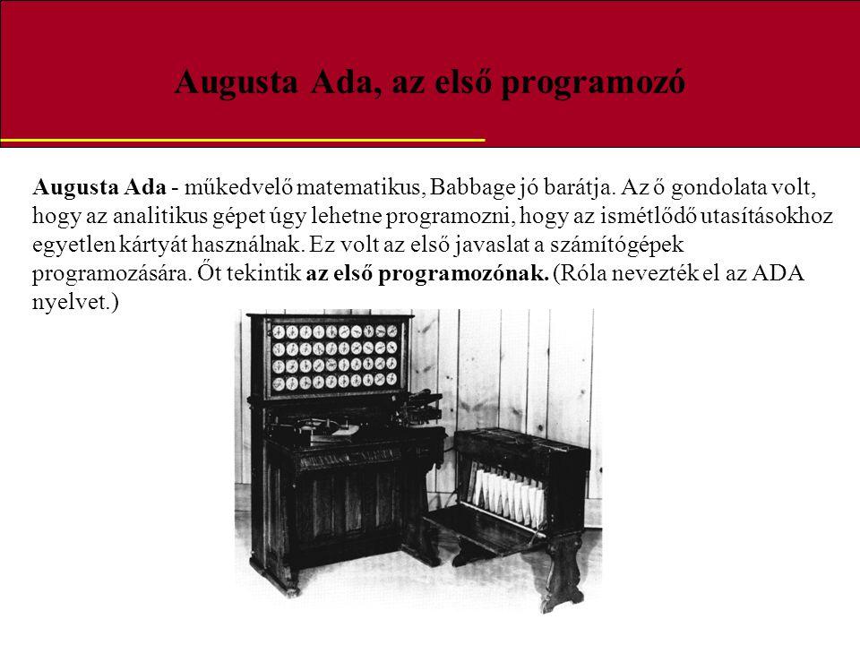Augusta Ada, az első programozó