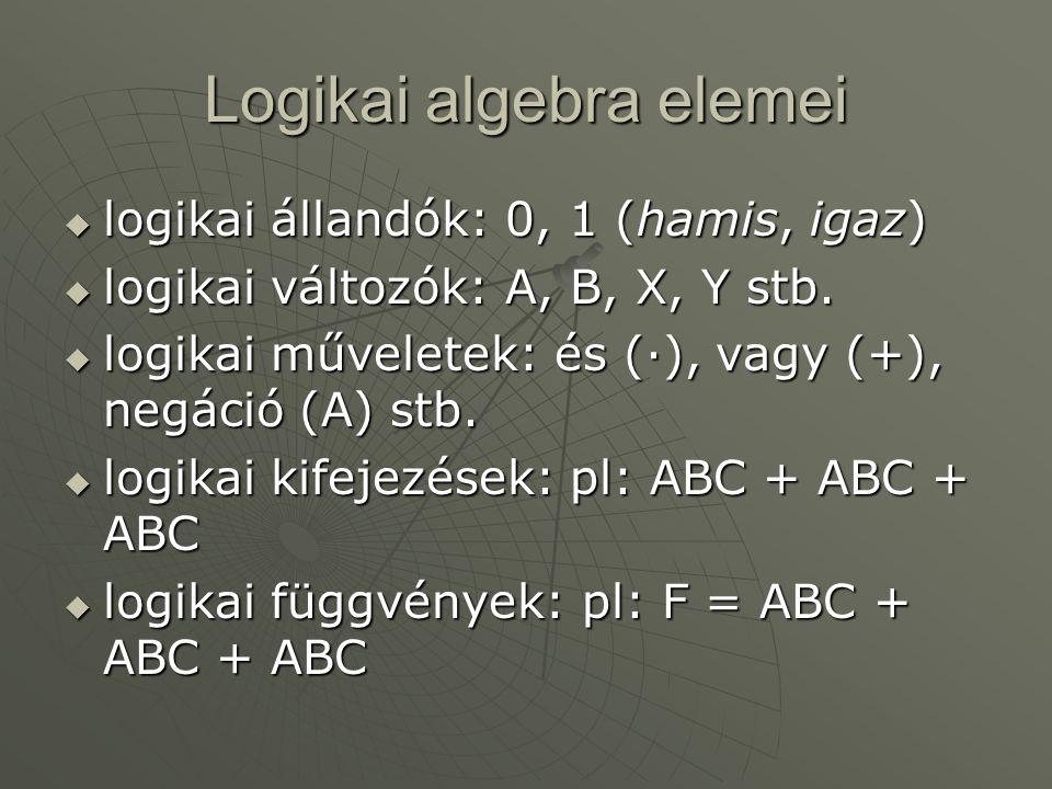 Logikai algebra elemei
