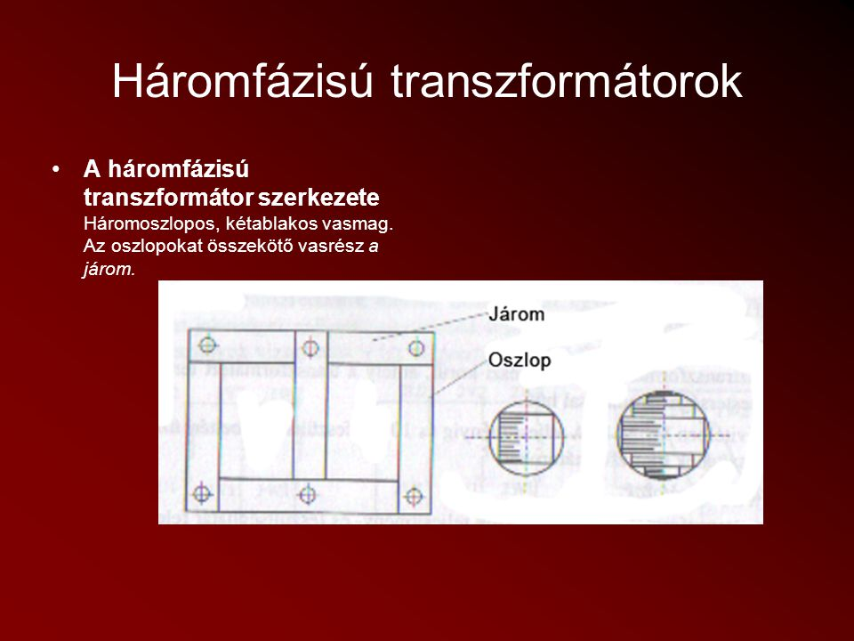 Háromfázisú transzformátorok