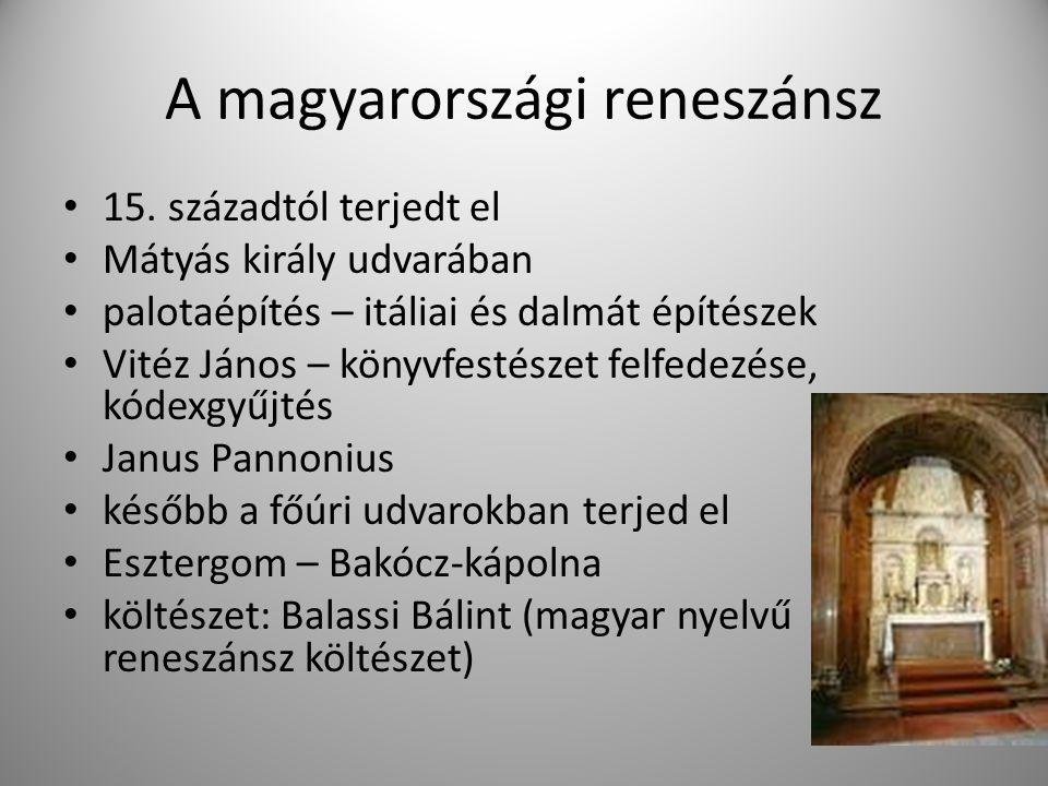 A magyarországi reneszánsz