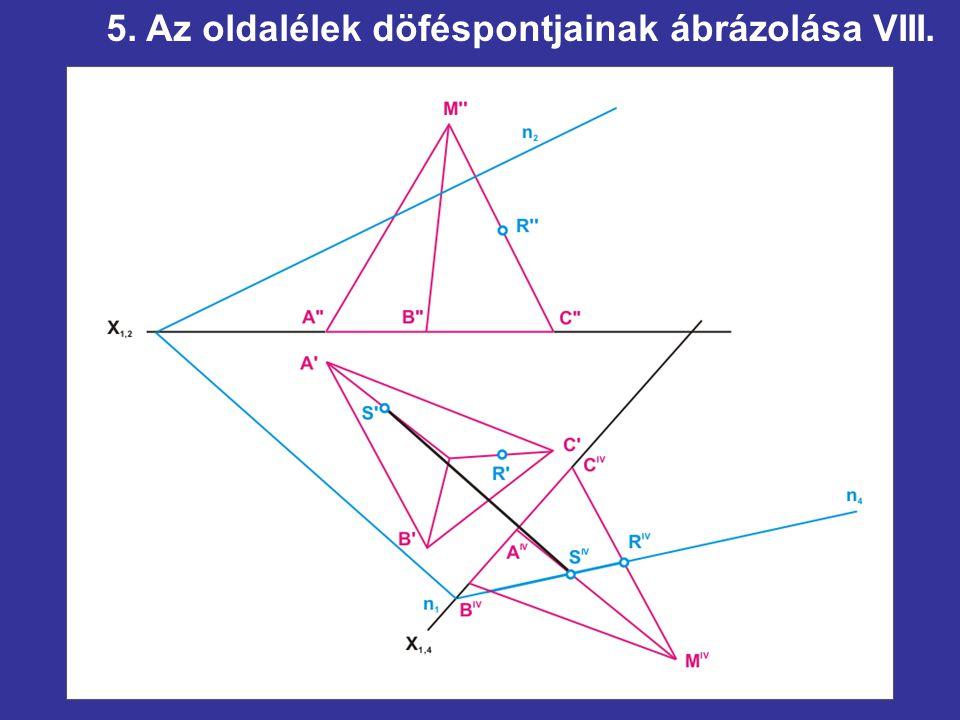 5. Az oldalélek döféspontjainak ábrázolása VIII.
