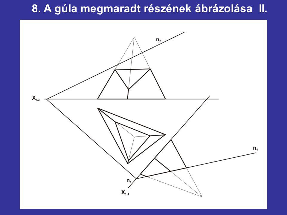 8. A gúla megmaradt részének ábrázolása II.