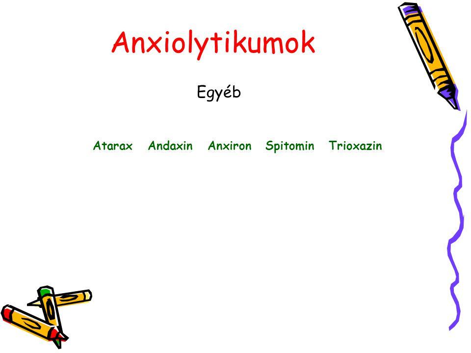 Atarax Andaxin Anxiron Spitomin Trioxazin