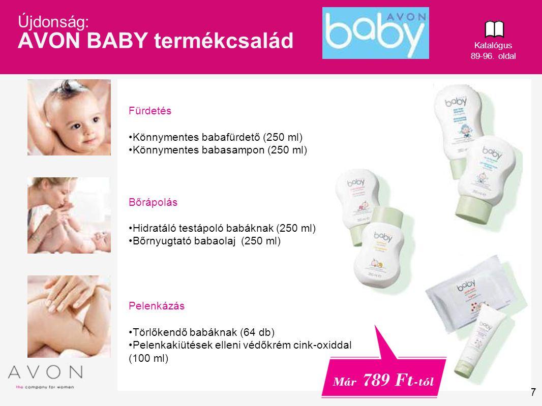 Újdonság: AVON BABY termékcsalád