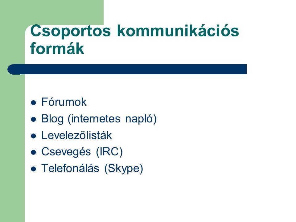 Csoportos kommunikációs formák