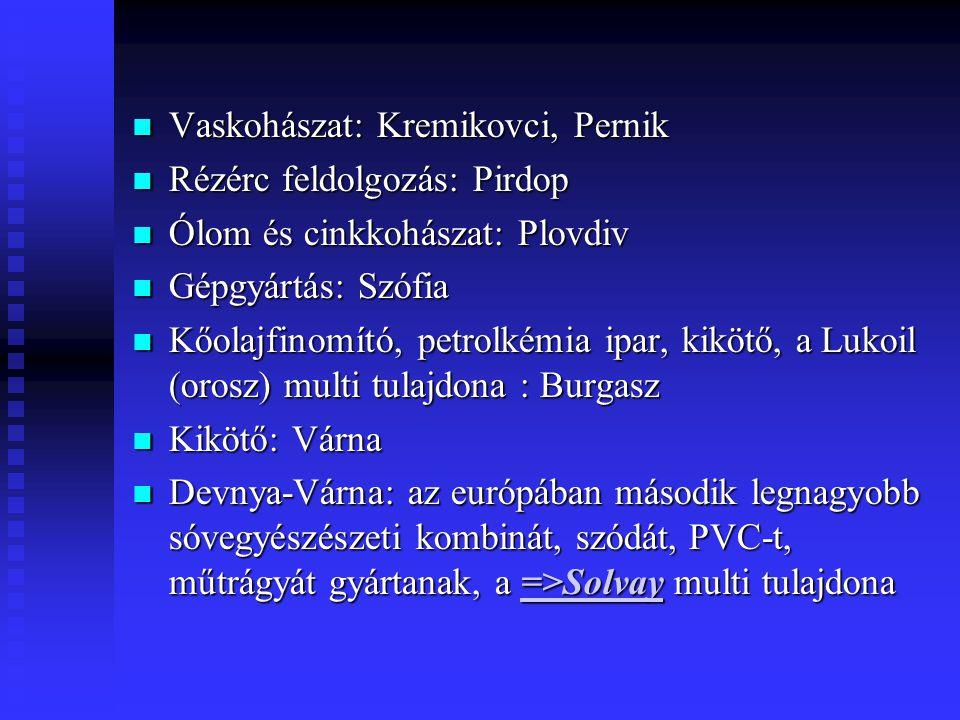 Vaskohászat: Kremikovci, Pernik