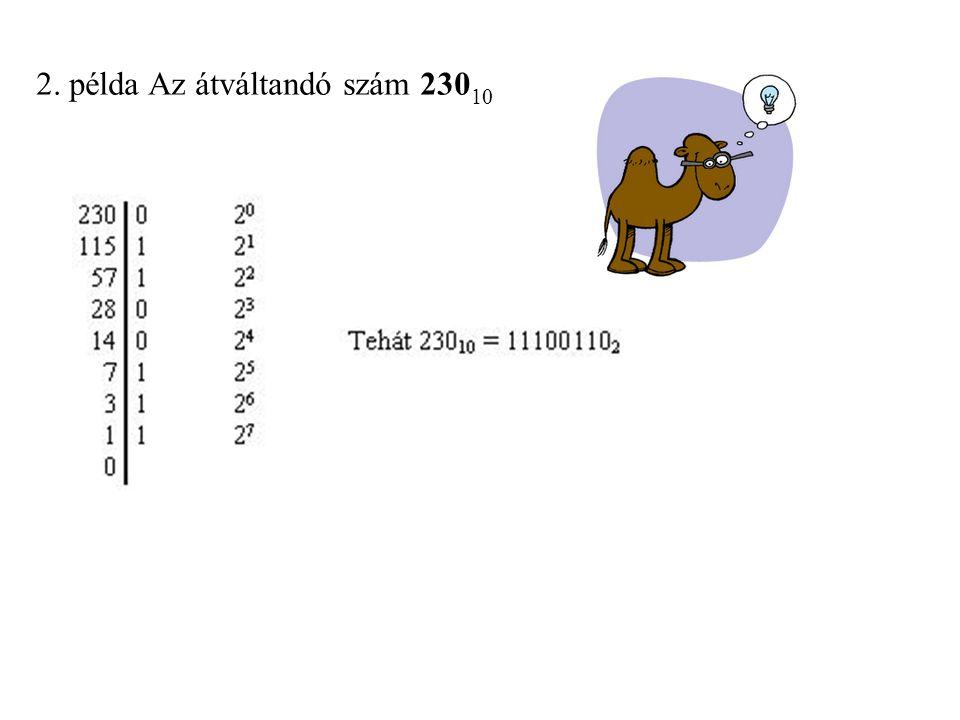 2. példa Az átváltandó szám 23010