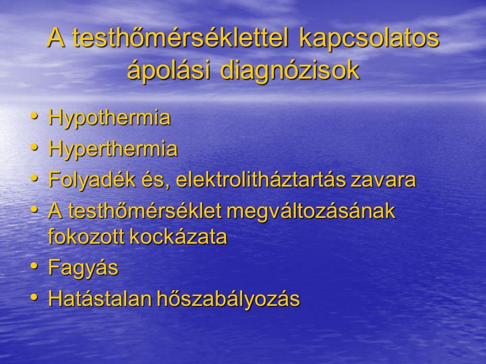 A testhőmérséklettel kapcsolatos ápolási diagnózisok