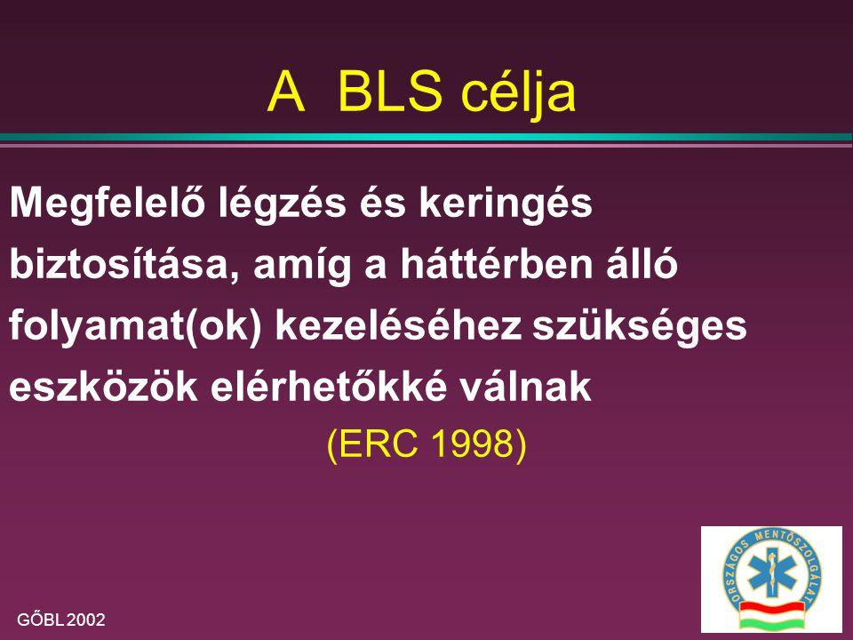 A BLS célja Megfelelő légzés és keringés