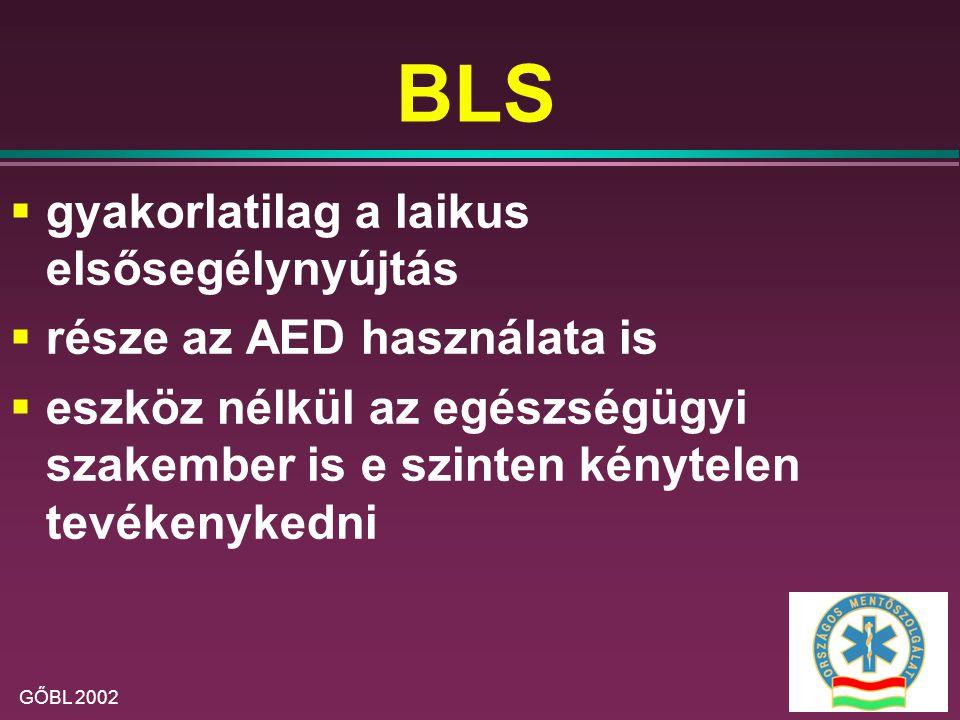 BLS gyakorlatilag a laikus elsősegélynyújtás