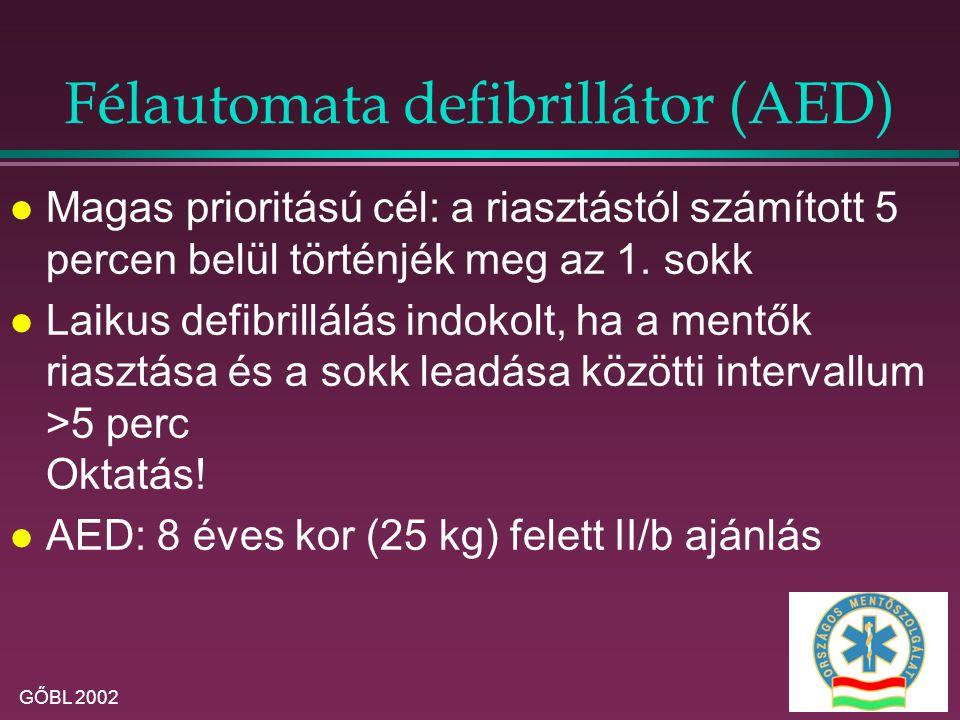 Félautomata defibrillátor (AED)