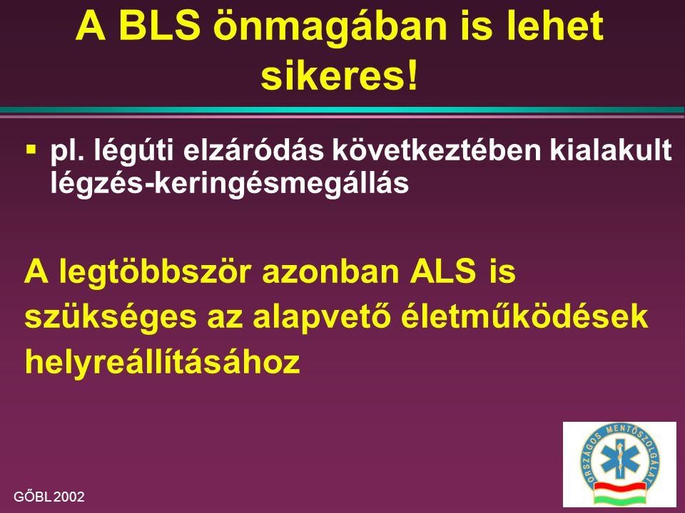 A BLS önmagában is lehet sikeres!