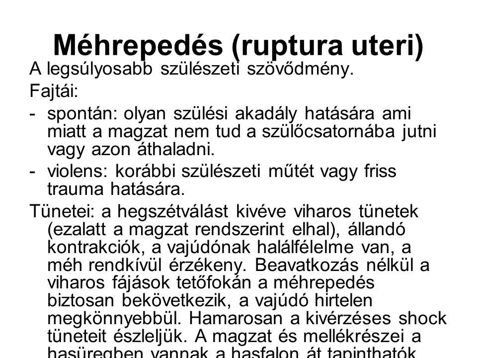 Méhrepedés (ruptura uteri)