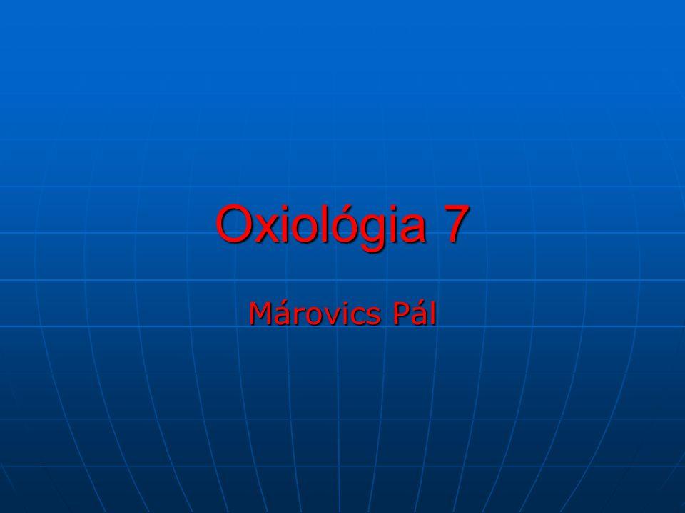 Oxiológia 7 Márovics Pál