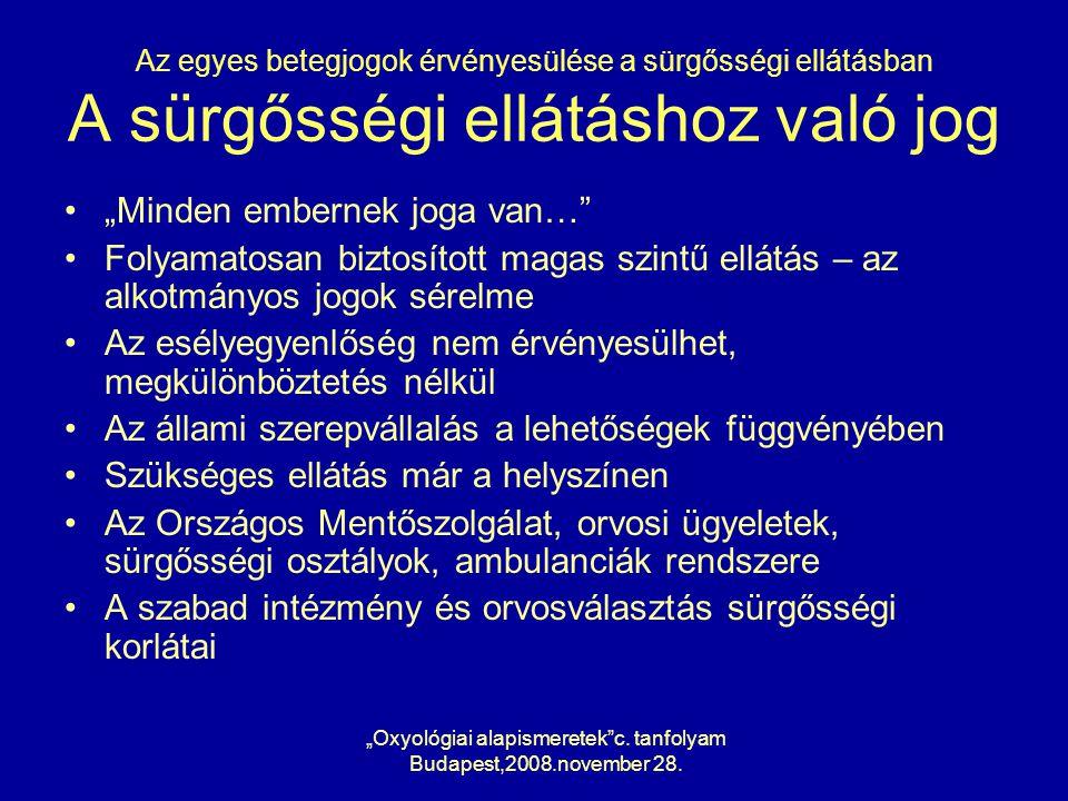 """Oxyológiai alapismeretek c. tanfolyam"