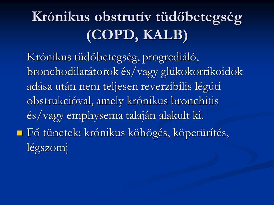 Krónikus obstrutív tüdőbetegség (COPD, KALB)