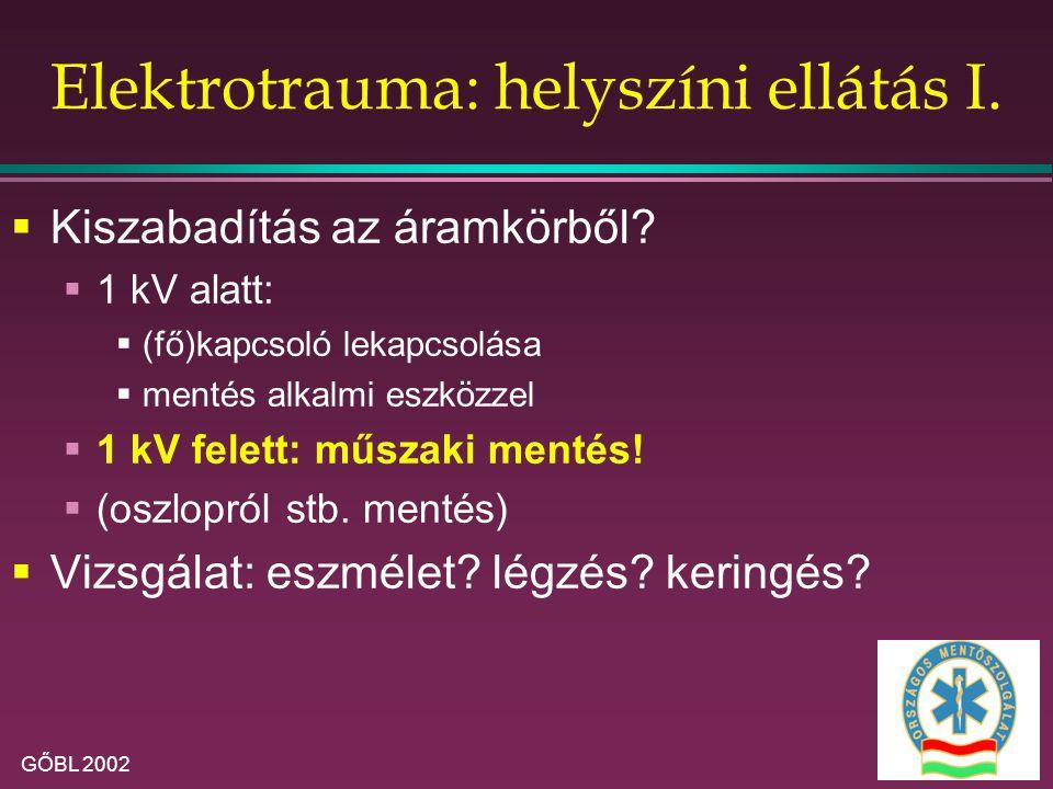 Elektrotrauma: helyszíni ellátás I.