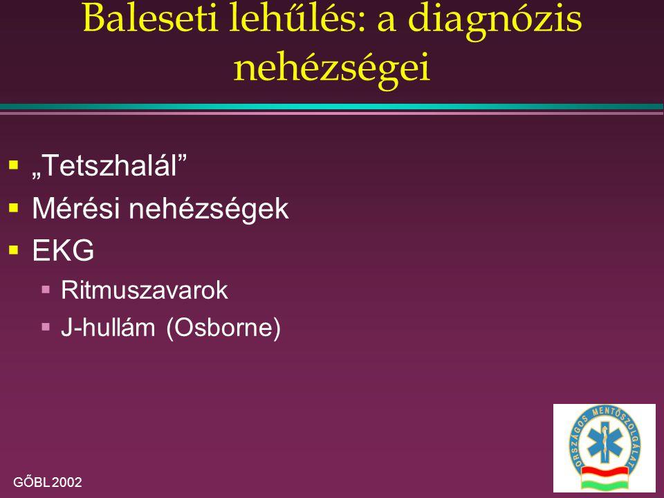 Baleseti lehűlés: a diagnózis nehézségei