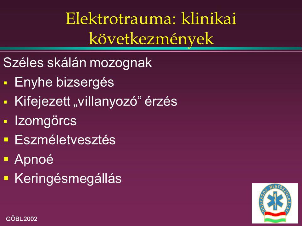 Elektrotrauma: klinikai következmények