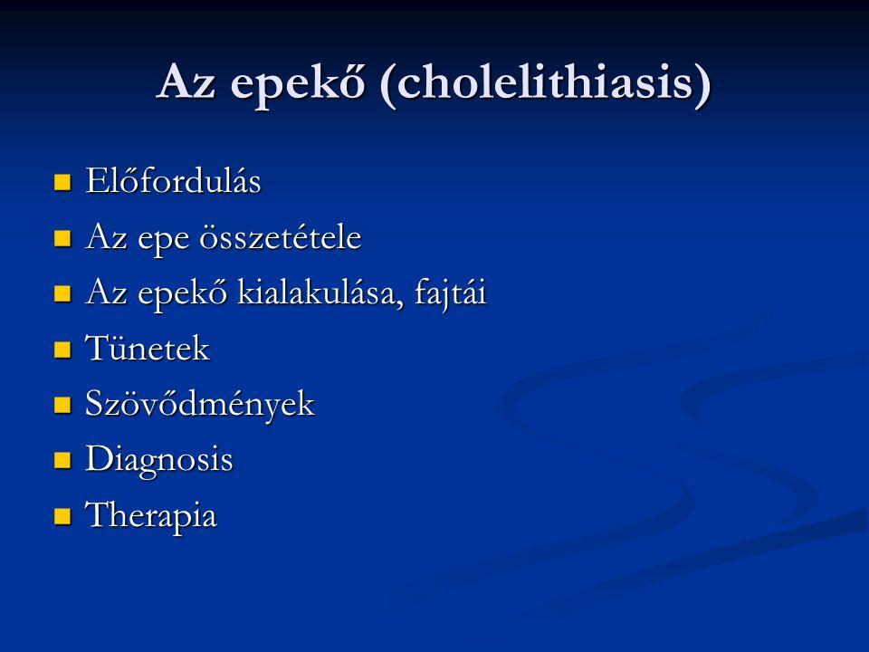 Az epekő (cholelithiasis)