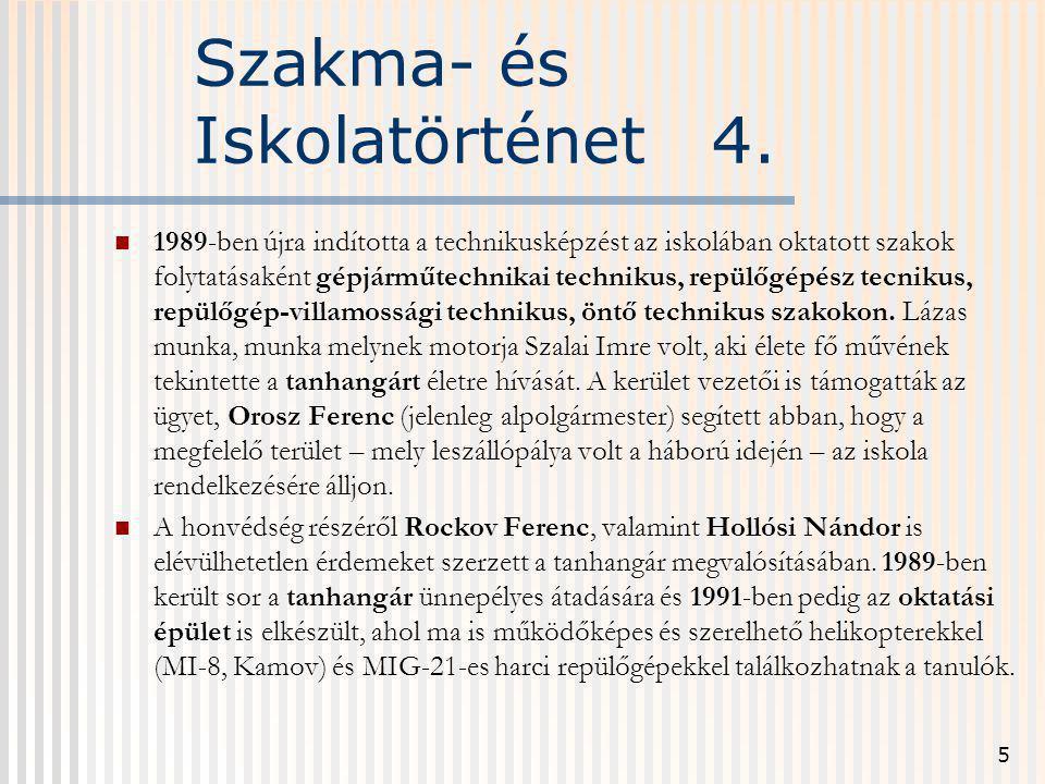 Szakma- és Iskolatörténet 4.