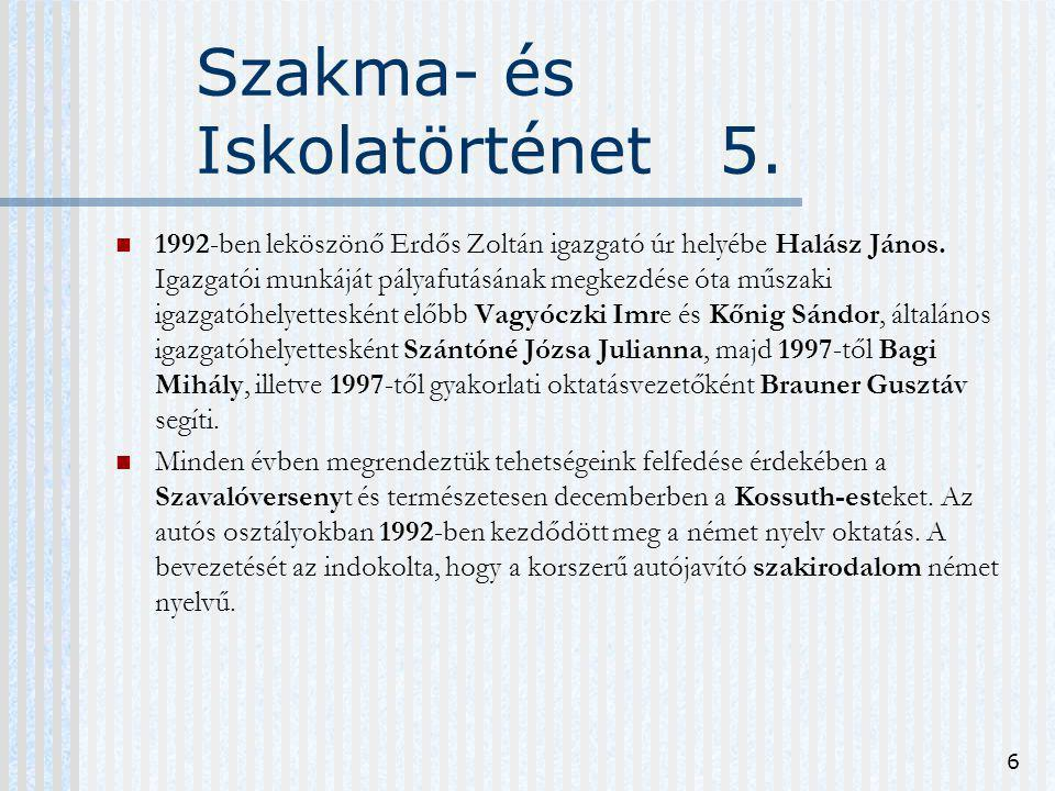 Szakma- és Iskolatörténet 5.