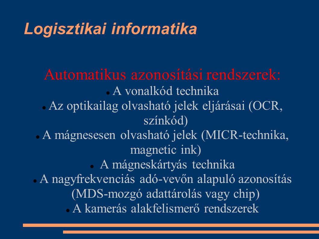 Logisztikai informatika