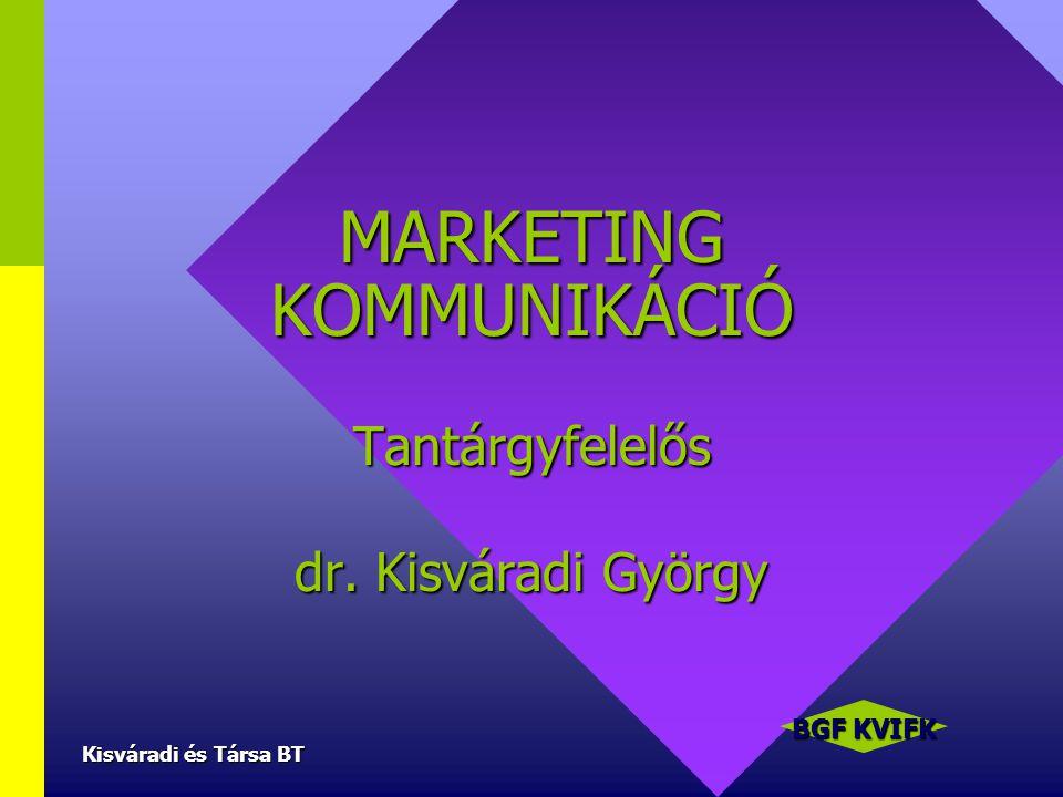 MARKETING KOMMUNIKÁCIÓ Tantárgyfelelős dr. Kisváradi György