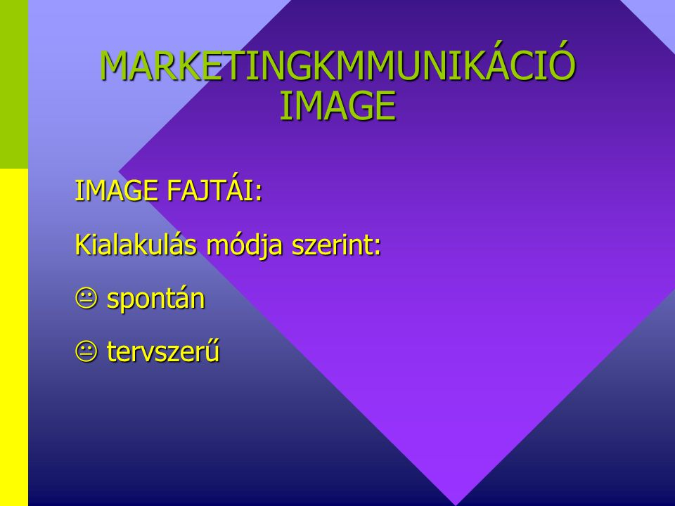 MARKETINGKMMUNIKÁCIÓ IMAGE