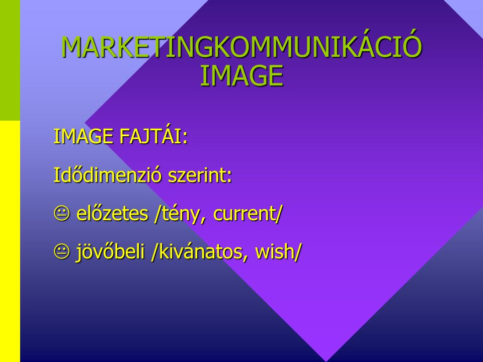 MARKETINGKOMMUNIKÁCIÓ IMAGE