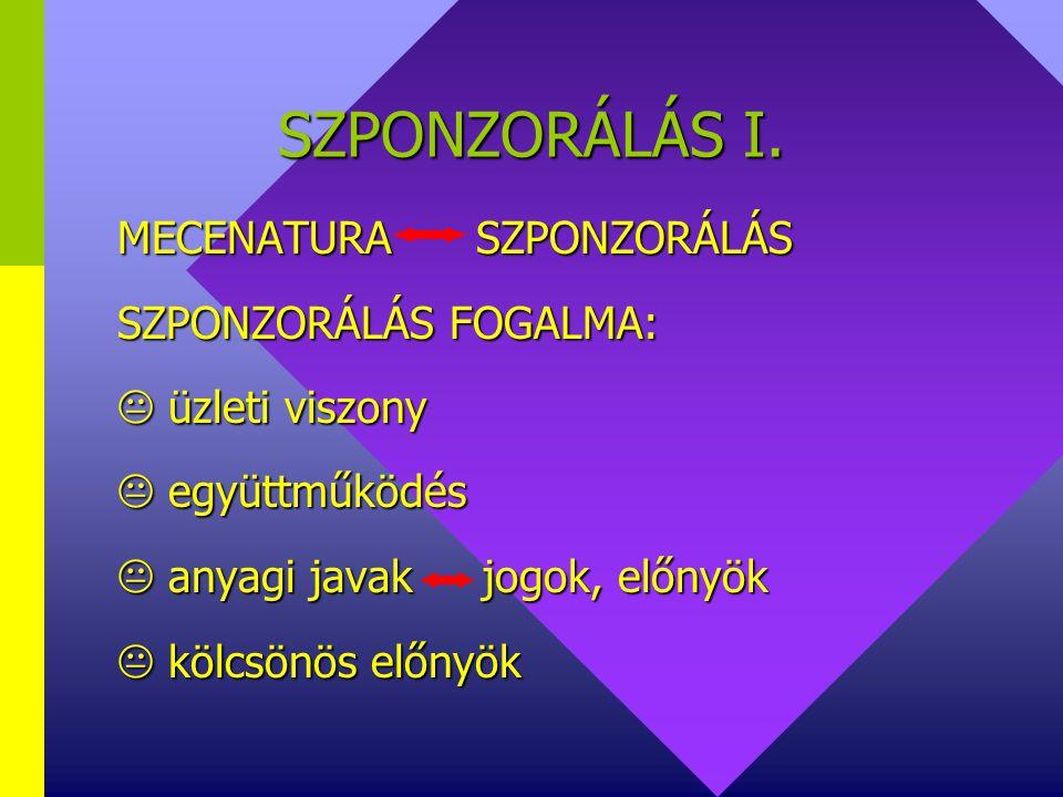 SZPONZORÁLÁS I.