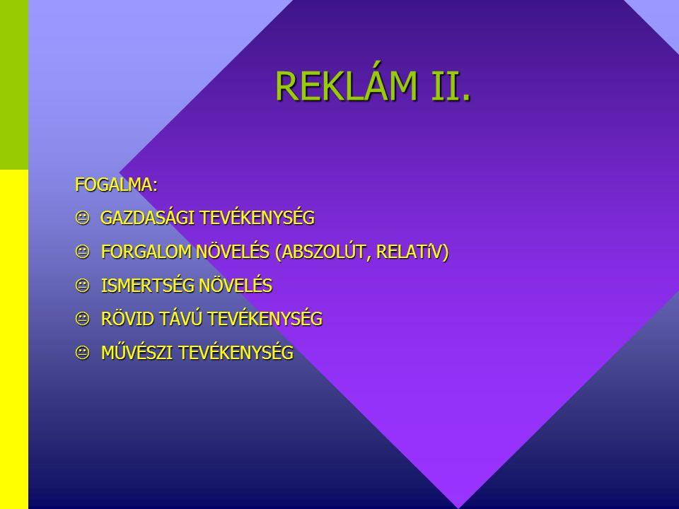 REKLÁM II.