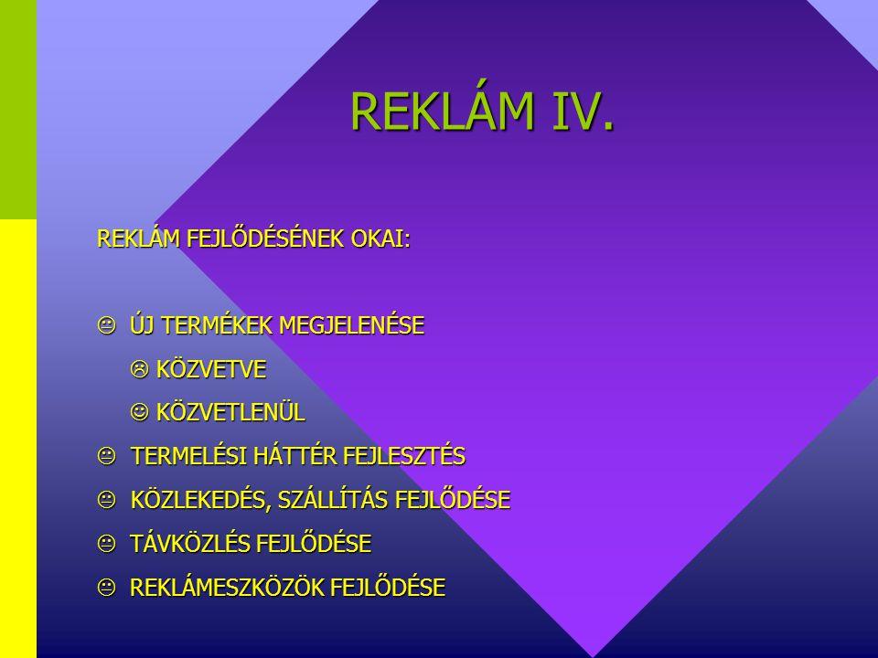 REKLÁM IV.