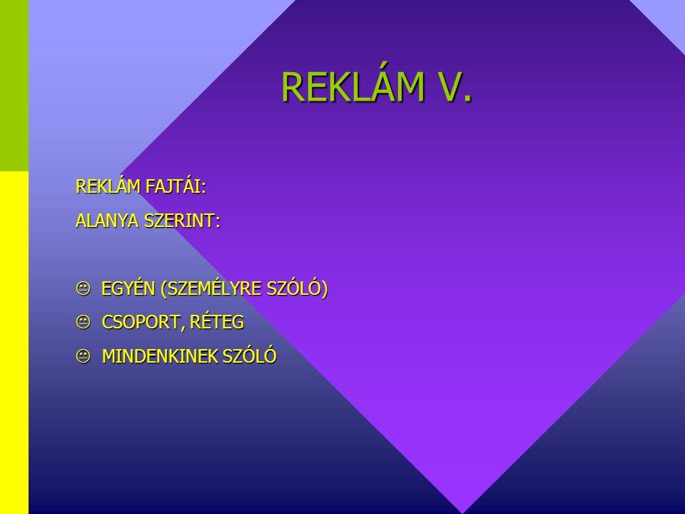 REKLÁM V.