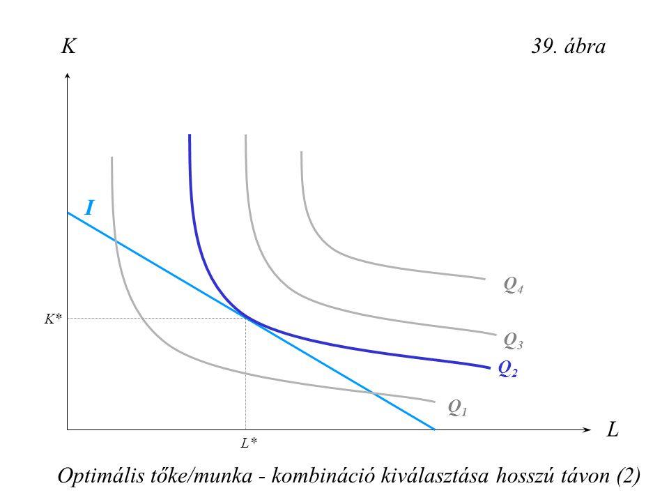 Optimális tőke/munka - kombináció kiválasztása hosszú távon (2)