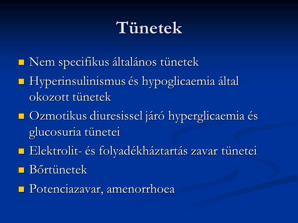 Tünetek Nem specifikus általános tünetek